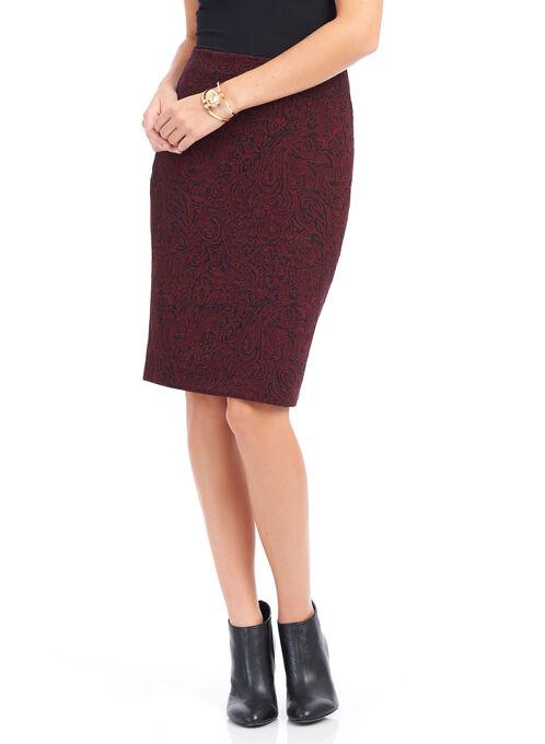 Trisisto Paisley Print Pencil Skirt, Black, hi-res