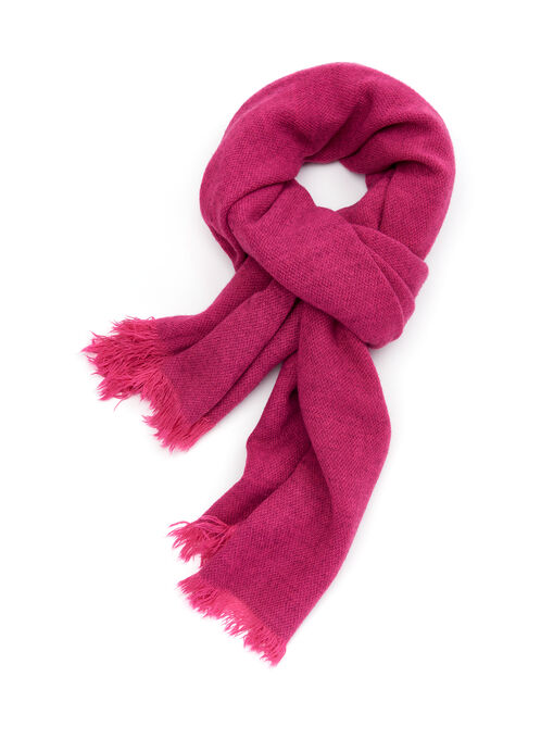 Fringed Wrap Scarf, Pink, hi-res