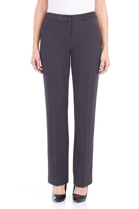 Loulou Diamond Straight Leg Pants , Grey, hi-res