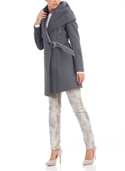 French Connection Wool Coat , Grey, hi-res