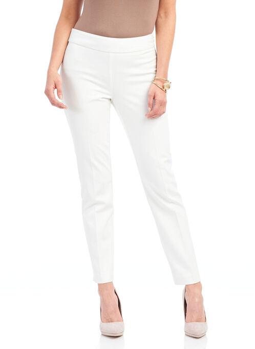 Faux Reese Pocket Slim Leg Pants, Off White, hi-res