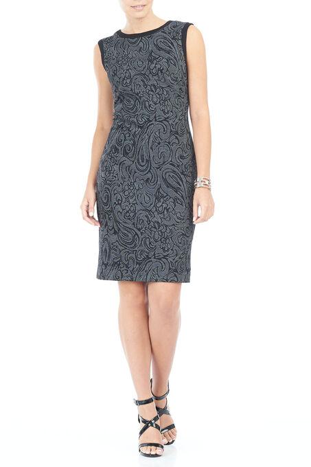 Trisisto Jacquard Sheath Dress, Grey, hi-res