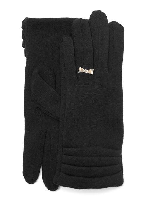 Bow Ring Gloves, Black, hi-res