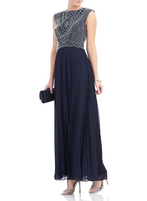 Cachet Beaded Dress, Blue, hi-res