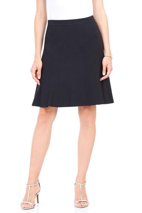 Ponte A-Line Skirt , Black, hi-res