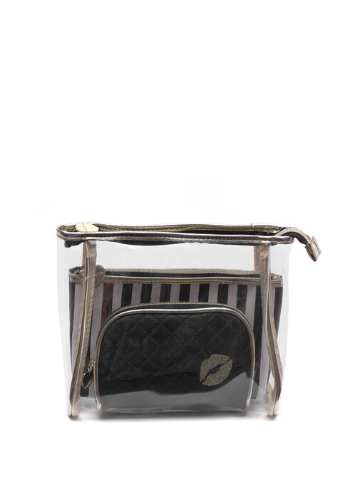 Marilyn Monroe Cosmetic Pouch Set, Black, hi-res