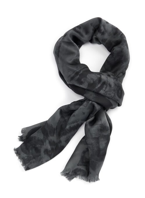 Ralph Lauren Silk Scarf, Black, hi-res