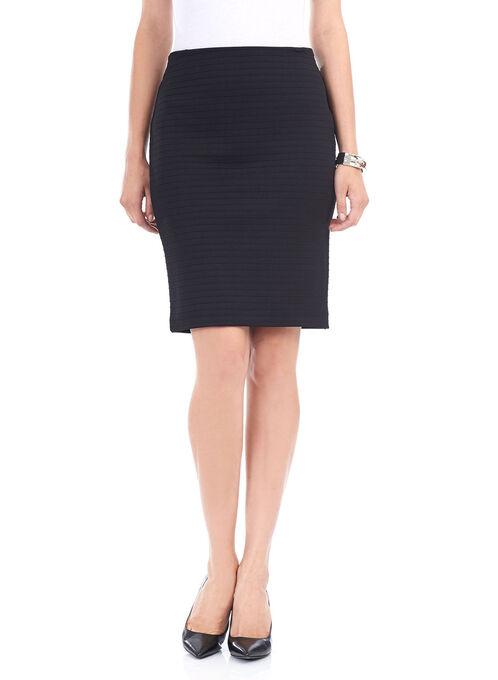 Trisisto Horizontal Line Pencil Skirt , Black, hi-res