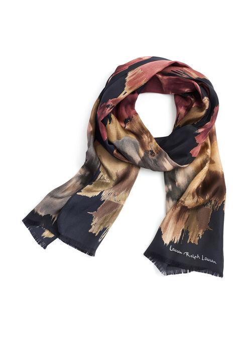 Ralph Lauren Printed Silk Scarf, Black, hi-res