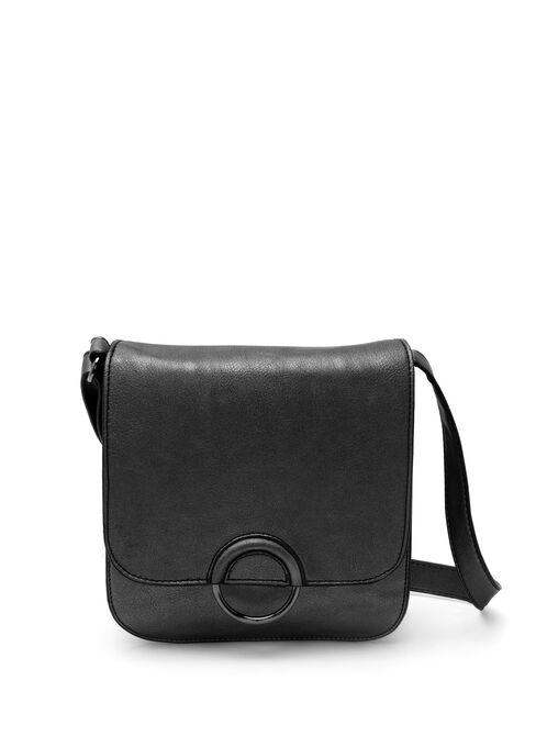 Ring Trim Crossbody Bag , Black, hi-res