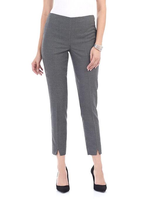 Slim Leg Printed 7/8 Pants , Black, hi-res