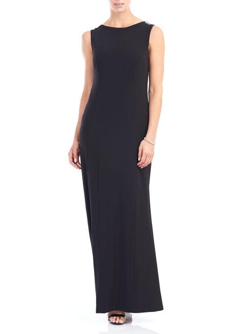 Long Evening Dresses, Black, hi-res