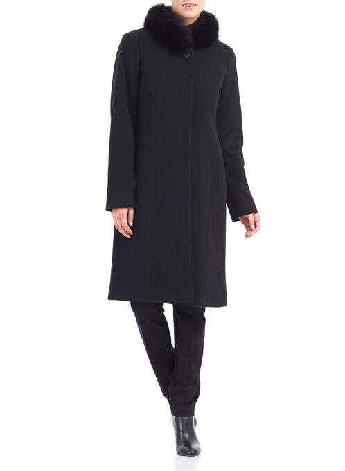 Mallia Wool & Cashmere Coat , Black, hi-res