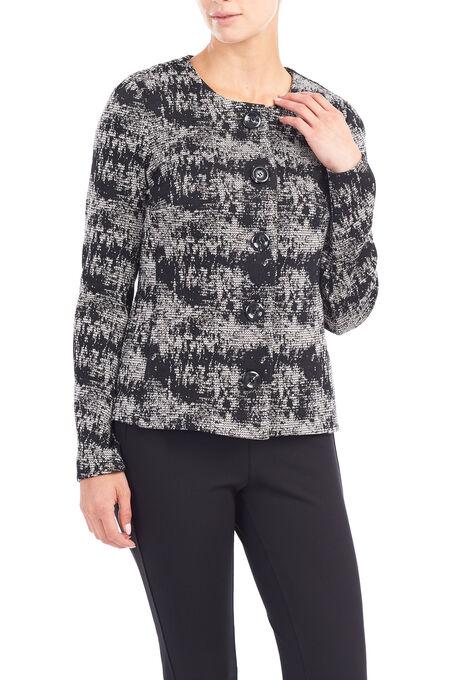 Trisisto Tweed Blazer, Black, hi-res