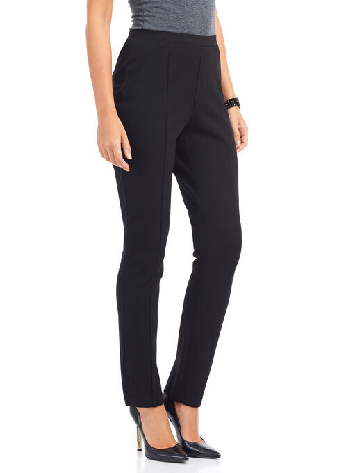 Linea Domani Slim Leg Pants, Black, hi-res