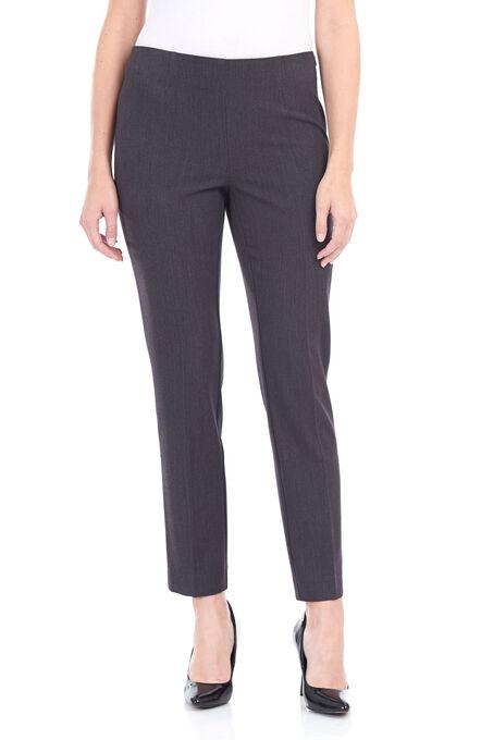 Loulou Diamond Slim Leg Pants , Grey, hi-res