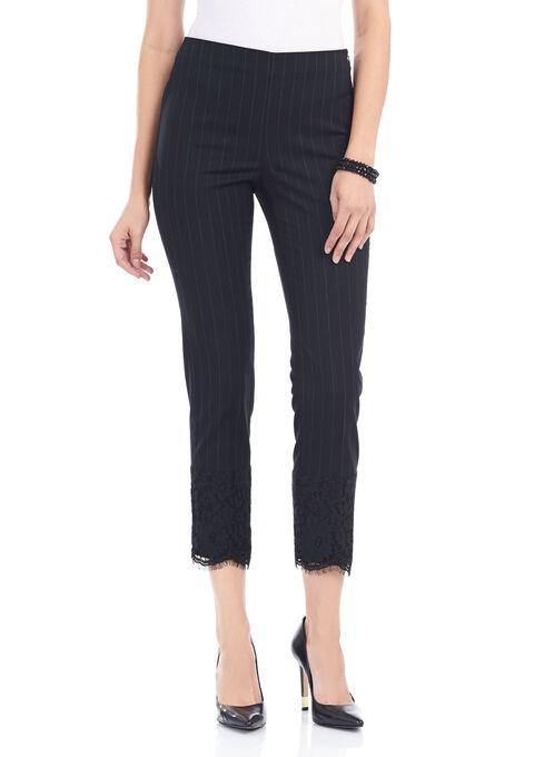 Slim Leg Ankle Pants, Black, hi-res