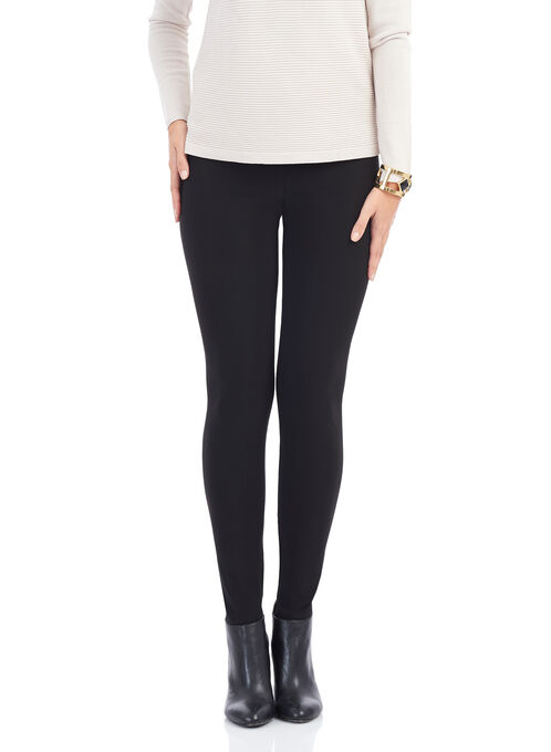 Frank Lyman Jersey Leggings , Black, hi-res