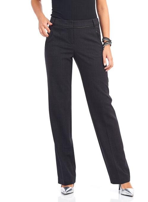 Loulou Diamond Straight Leg Pants, Black, hi-res