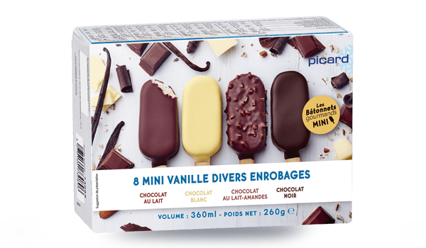 8 mini-Best vanille- divers enrobages chocolat