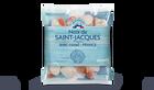 Noix de St Jacques France Pecten avec corail