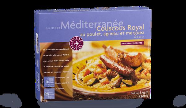 Couscous royal, poulet, merguez et agneau