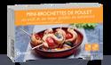 Mini-brochettes de poulet au miel et au thym