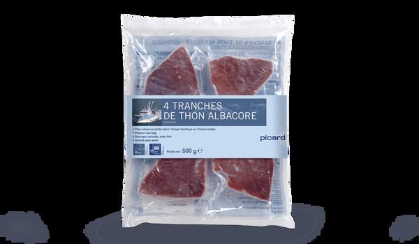 4 tranches de thon Albacore, qualité sans arête