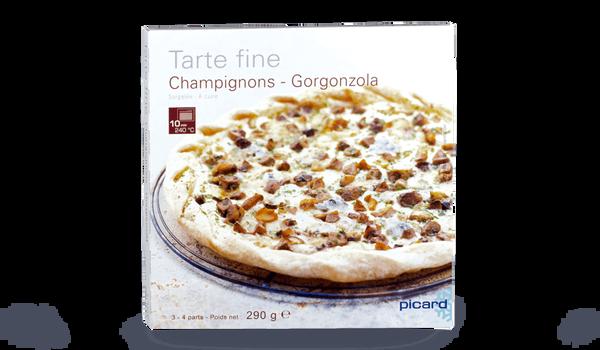 Tarte fine champignons gorgonzola