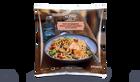 Wok de saumon, nouilles et légumes, sauce teriyaki