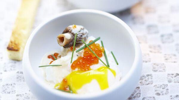 Cassolettes de morilles aux deux œufs
