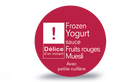 Frozen yogurt sauce fruits rouges - muesli