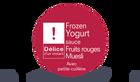 Frozen yogurt sauce fruits rouges - muesli