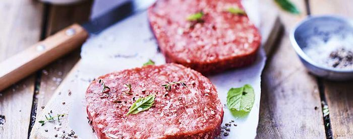 2 biftecks hachés bio (100g), pur boeuf, 5% MG