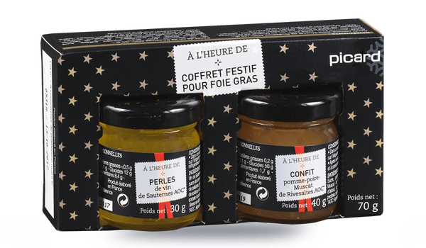 coffret festif pour foie gras surgel s l 39 picerie picard. Black Bedroom Furniture Sets. Home Design Ideas