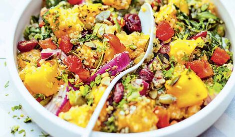 Salade de mangue au quinoa et graines