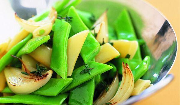 Duo de haricots plats verts et beurre, coupés