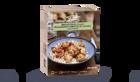 Brochettes de poulet, boulghour et compotée de lég
