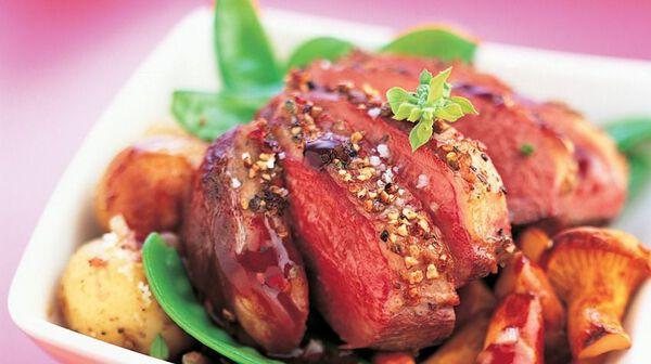 Recette magret de canard au porto grenailles de noirmoutier recettes les plats picard - Cuisiner le magret de canard au four ...
