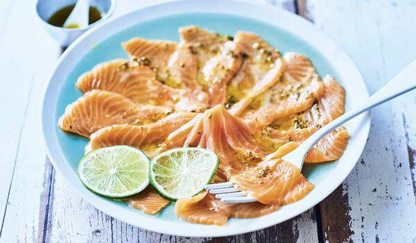 Carpaccio de saumon atlantique