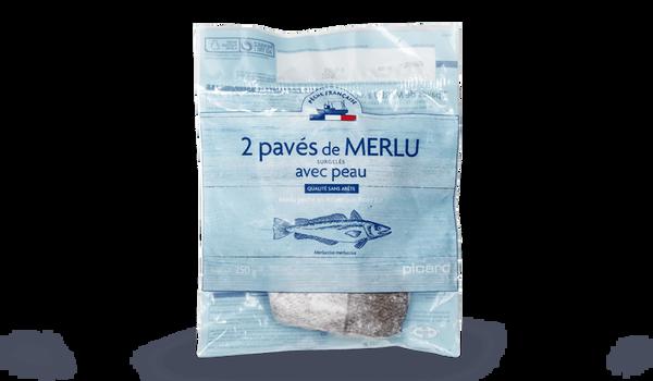 2 pavés de merlu Pêche française, sans arête