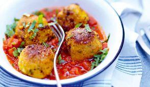 Boulettes de cabillaud au safran en sauce tomate