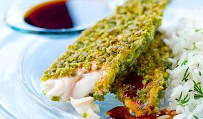 Filet de rouget en croûte de pistaches