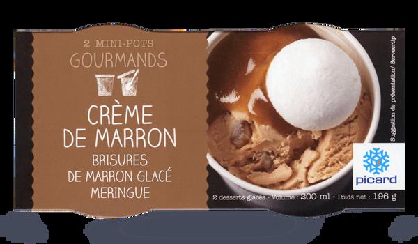 2 mini-pots glace Crème de marron