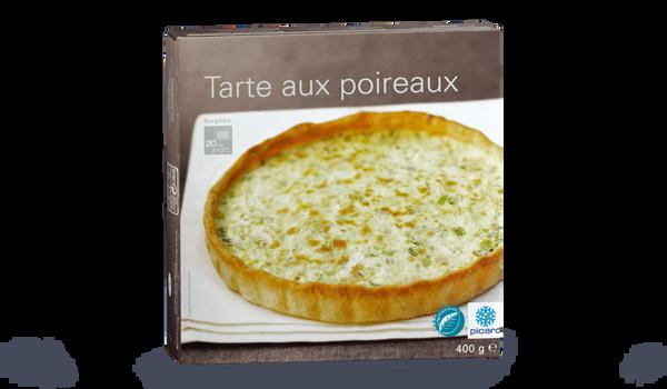 Tarte aux poireaux surgel s les entr es tartes et salades picard - Tarte aux poireaux sans creme ...