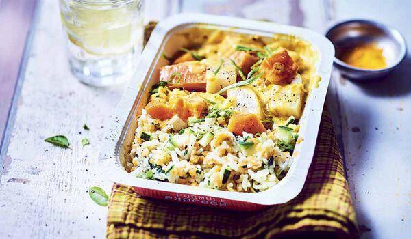 Colombo de poissons riz et lentilles corail surgel s for Picard plats cuisines
