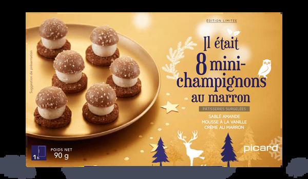 8 mini-champignons au marron