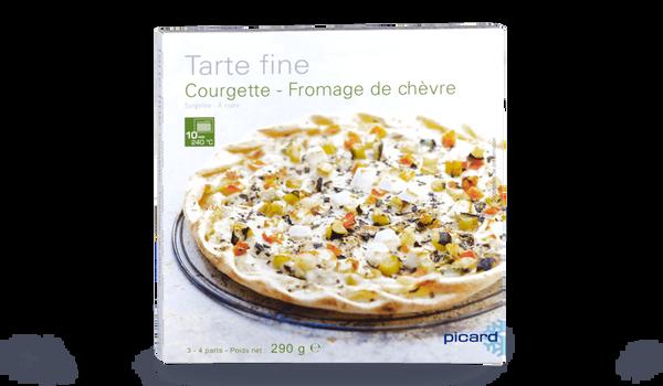 Tarte fine courgettes fromage de chèvre, crue