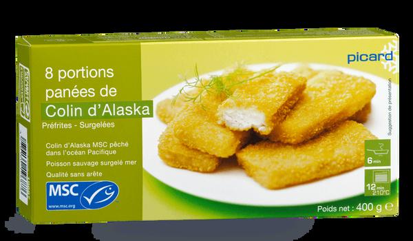 8 portions panées de colin d'Alaska MSC
