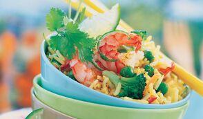 Salade thaï de riz aux crevettes